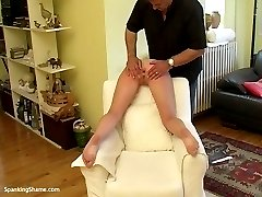 Shameful punishment for pretty girl - spanked, paddled and fucked in the ass
