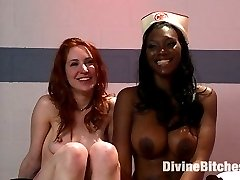 Calico is back and paired up with the beautiful Nyomi Banxxx in a kinky lesbian role play filled...