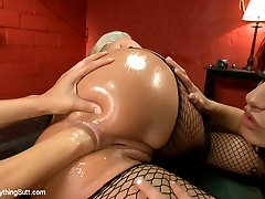 Phoenix Marie and Cassidey get a full dose of anal domination from Francesca Le!