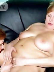 Mature lesbian plumpers Anna and Yolanda engage in pussy licking and enjoy an explosive orgasm