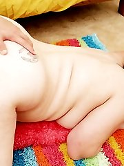 Horny bbw Kiki teases a horny guy with her massive plump tits and lures him into banging her slit