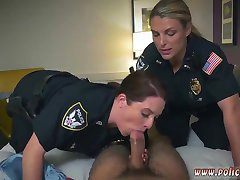 Police boobs and fat ass black police first