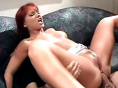 Hardcore cock sucking and ass reaming action manifested by a redhead babe.