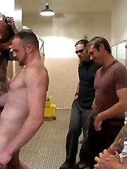 Brand new to KinkMen, Leo Sweetwood is a cum whore. He goes from stall to stall in a cruising...