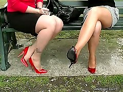 These two lovely ladies have their feet in high heels every day and it shows. The elegance and...