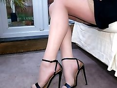 If you have a fetish for ladies heels you find that you are always looking at them because you find them so erotic and they do so much for you. As your fetish rises to the temptation of Holly's high heels give them your full attention and your love will be expressed in adoration and worship