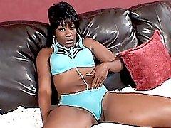 Sexy ebony Beauty slurps black dick before taking it deep into her fleshy backsides