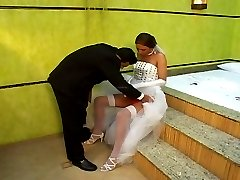 Hot shemale bride drilling the ass of her fianc233 right in their nuptial bed