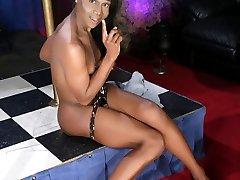Black cutie Sanaa strips amp dances