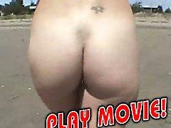 Blond hot nudist gone wild
