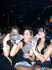 Wild party upskirts