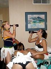 Drunk upskirt girls have a blast