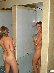Watch the adult entertainment of amateur beautoes in sauna. Naked and sweaty they cant be turn...