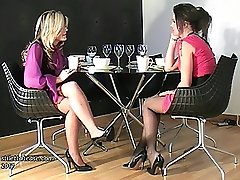 Witnessing 2 lovely dolls in high heels is one of the great pleasures of having a shoe fetish. The sensation, uber-cute and fulfilling draws the fetishist closer to the nymphs heel, the focus of his love, as his fetish for them is intensified
