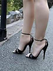 Kylie is seen here doing what she loves doing finest! That is stimulating your ladies shoe fetish wearing a lovely enticing shoe with a gorgeous 5 inch heel and very skinny cords