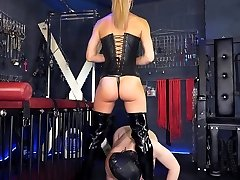Young Dommes Fuckfest Slave