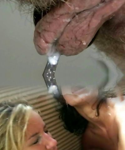 Short haired german lesbian gets fucked in threesome