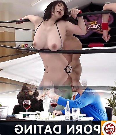 Gemischtes Wrestling Arsch lecken