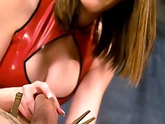 Rico is put to the test with this cold hearted bitch! Raven uses CBT, paddling and strap-on ass fucking to torture her slave.