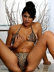 Sexy babe Alexandra displays her natural hairy pussy and rides a hard schlong after giving a blowjob