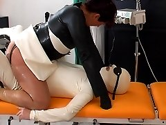 Horny assfucking in rubber