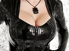 Hot Gothic big breasted rubber Morticia