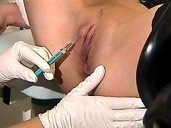 Painful needle exam