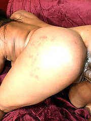 Chocolate skinned MILF riding dick like a champ at home