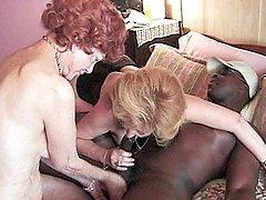 Granny broads enjoying a hard black cock