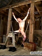 Miss Kingsley is new to S&M but makes short work of house slave boy Rico.