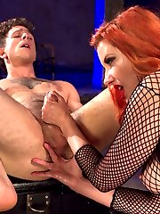 Today, Corbin Dallas walked in to the Divine Bitches dungeon with a virgin prostrate - never stroked, never pressed, certainly never milked. He had yet to feel its pleasures: the intense need to piss and cum simultaneously, the torment and unimaginable sensation coursing up his cock. And today - after one of the most intense orgasams ever - this anal slut was released from our dungeon a new man. Maitresse Madeline blindfolded, teased, flogged, and whipped her eager slave, denying him the pleasure of looking at her divine pussy while he sniffed its nectar and strap-on fucked the Maitresse with his face. She then straps on the absolute biggest, thickest dildo at Kink and pushes Corbin to the edge of orgasm without even touching his cock, which drips at the very mention of the giant dick in his ass. The Maitresse, having warmed up Corbin's hole, then slides her legendary prostrate-milking fingers into his ass and absolutely blows his mind, extracting every drop of cum from this new devotee of the Divine Bitches.
