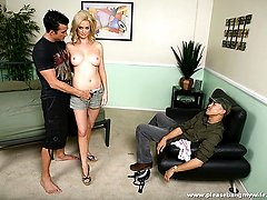 Smoking hot blond gets banged hard by a muscular guy