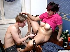 Trashy mature seducing guy