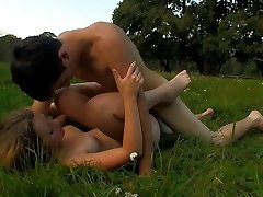 She is the image of innocence, but this teen has some x-rated desires. Shortly, she`s providing this lucky stud a blowjob and a whole lot more in the middle of this field.