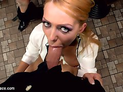 Isabella Clark's ass is at it again! Her ass is like a black hole that swallows everything within its gravitational pull. In front of an excited crowd of onlookers Isabella puts cock after cock in her deep gaping asshole. When one cock was not enough for her backdoor, Isabella begs for double anal. Like a real life fuckdoll Isabella moans with pleasure as two cock are jammed up her stretched butthole. After her double anal penetration, Isabella's rectum gapes open as if it were mocking Frank Gun's inability to satiate its hunger. Frank rolls up his sleeves as he accepts the challenge in front of him. With little effort and minimal lube, Frank slides his entire fist down into Isabella's bowels. As her ass clenches around the base of his forearm, Frank repeatedly punches into Isabella till she writhes with pleasure. Another public disgrace fantasy fulfilled