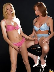 Shelesbian Action with the worlds Best Hung Tranny