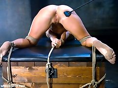 20 year old Ashli Orion was extremely excited about being tied up and punished for the first time.  She is dominated by Claire Dames who slaps her around and sexually uses her.  In tight bondage, she is fucked with a strapon and then fucks Claire with a dildo gag.  Lots of big tit smothering, pussy and ass licking in this sexy update.