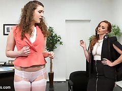 Endza Adair will do anything to intern for hot executive Bella Rossi. Bella strips whips and humiliates Endza before putting her through the paces with spanking, finger banging, face sitting, a zipper, and pussy and anal strap-on fucking!