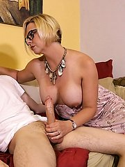 Archie Gets Stroked By Step Mommy Brianna at Over40handjobs