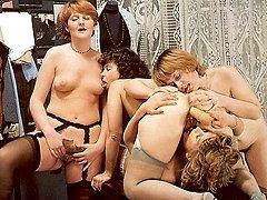 Four seventies lesbians sex