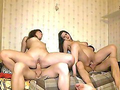 Beauties bound on dicks