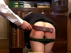 Hannah spanked & strapped