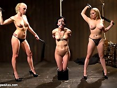 Welcome back the tough and beautiful Elise Graves to WhippedAss.com! Lorelei Lee and Aiden Starr take down Elise right from the opening interview and treat her to a day filled with lesbian bondage, humiliation, hard punishment and rough sex. Elise is a fan favorite because of her intense love of pain and BDSM. Hard spanking, choking, caning, ass worship, pussy torture, strap-on anal sex and brutal intense oragsms!