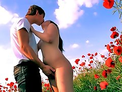 It\'s every romantic nymph\'s dream for a prince fetching to nail their brains out on a area of flowers, and since it\'s every stud\'s fantasy to ravage a super-fucking-hot lady, we get outdoor romps like this one!