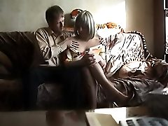Lady caught on voyeur making love