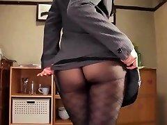 Shou nishino såpe flott kvinne strømpebukse ass pisk ru nume