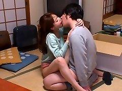 Hottest Japanese whore Akiho Yoshizawa in Mischievous kitchen, couple JAV scene