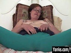 Tattooed Sylvie Draining Her Bushy Slit