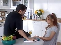 Daddy fucks her young step-daughter