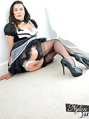 Nylon Jane will be your intimate maid, but she has her own demands when it comes to what to wear! She has a exclusive nylon maid apparel that is finished off flawlessly with a pair of ebony entirely fashioned nylon pantyhose